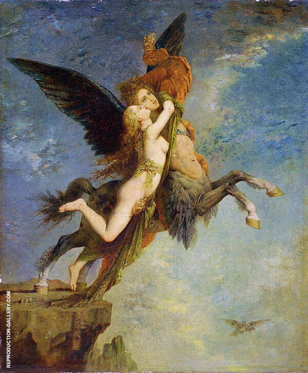 The Chimera by Gustave Moreau | Oil Painting Reproduction Replica On Canvas - Reproduction Gallery