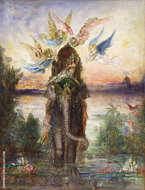 The Sacred Elephant 1882 by Gustave Moreau | Oil Painting Reproduction Replica On Canvas - Reproduction Gallery