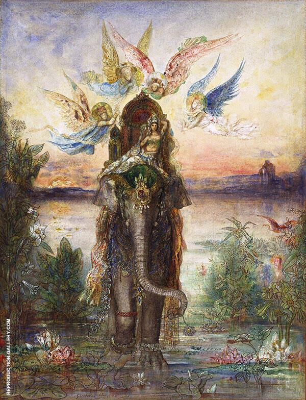 The Sacred Elephant 1882 By Gustave Moreau