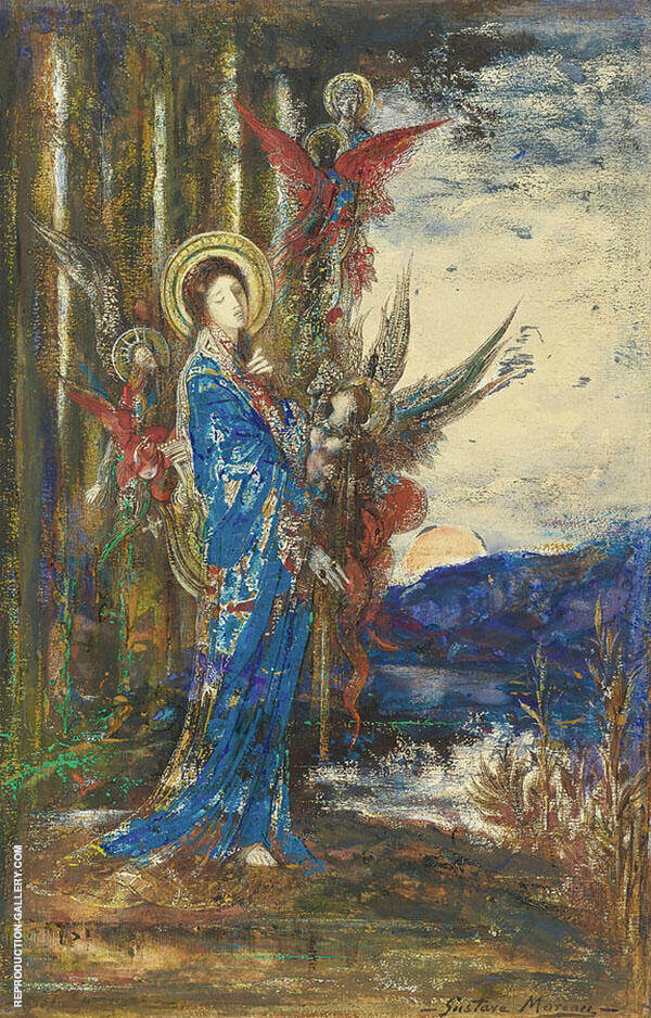 Trials by Gustave Moreau | Oil Painting Reproduction Replica On Canvas - Reproduction Gallery