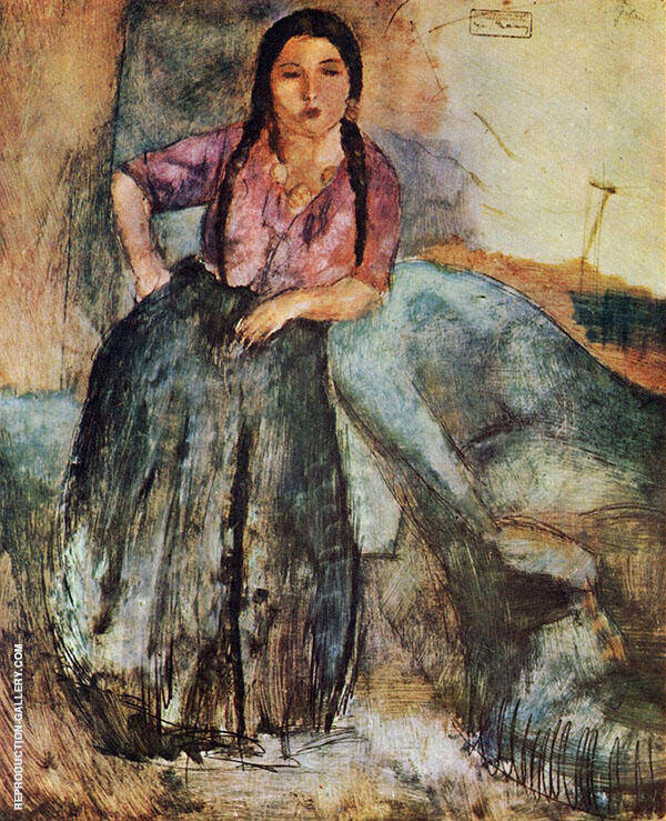 Gypsy Girl 1923 By Jules Pascin