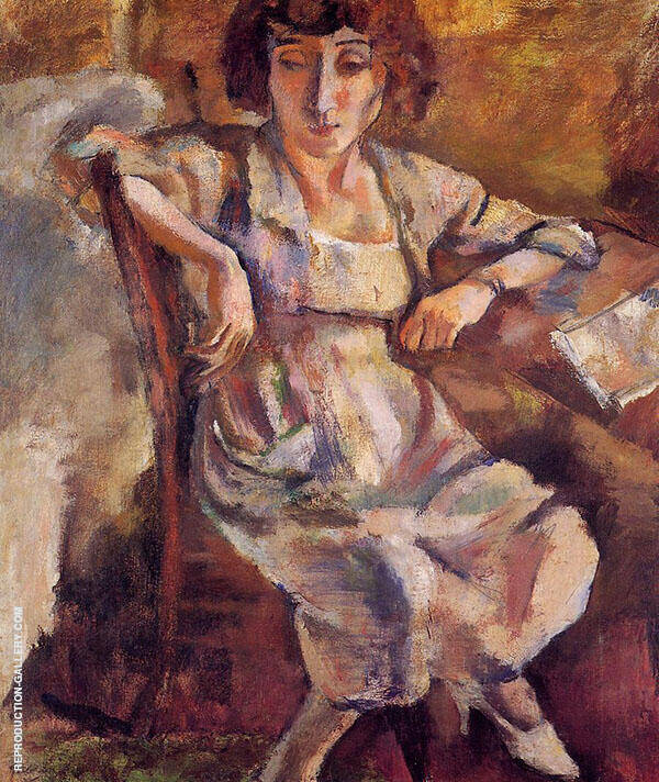 Hermine on a Chair 1918 Painting By Jules Pascin - Reproduction Gallery