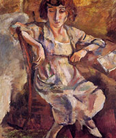 Hermine on a Chair 1918 By Jules Pascin