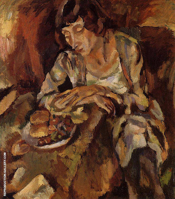 Hermine with Fruit 1919 Painting By Jules Pascin - Reproduction Gallery