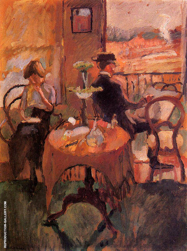 Interior Scene 1910 Painting By Jules Pascin - Reproduction Gallery