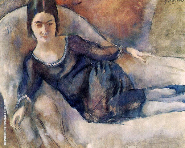 Lady on a Sofa 1925 Painting By Jules Pascin - Reproduction Gallery