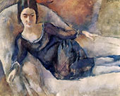 Lady on a Sofa 1925 By Jules Pascin
