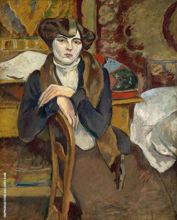 La Melancolique 1909 Painting By Jules Pascin - Reproduction Gallery