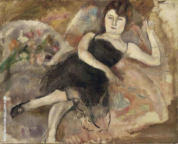 La Robe du Soir 1924 Painting By Jules Pascin - Reproduction Gallery