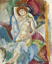 Nude Arm Raised By Jules Pascin