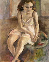 Pensive Girl By Jules Pascin