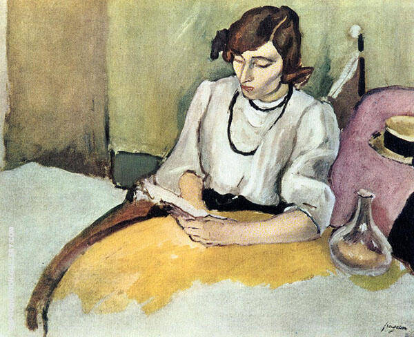 Portrait of Hermine David 1908 Painting By Jules Pascin
