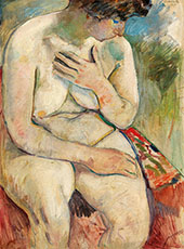 Seating Nude By Jules Pascin