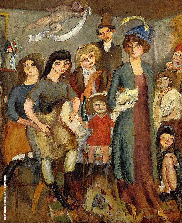 The Turkish Family 1907 Painting By Jules Pascin - Reproduction Gallery