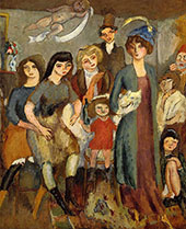 The Turkish Family 1907 By Jules Pascin