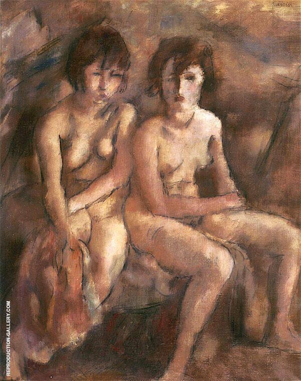 Two Young Swiss Women By Jules Pascin