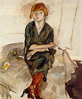 Young English Woman 1926 By Jules Pascin