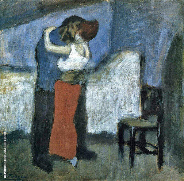 Embrace 1900 Painting By Pablo Picasso - Reproduction Gallery