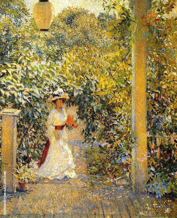 A Summer Visitor Painting By Philip Leslie Hale - Reproduction Gallery