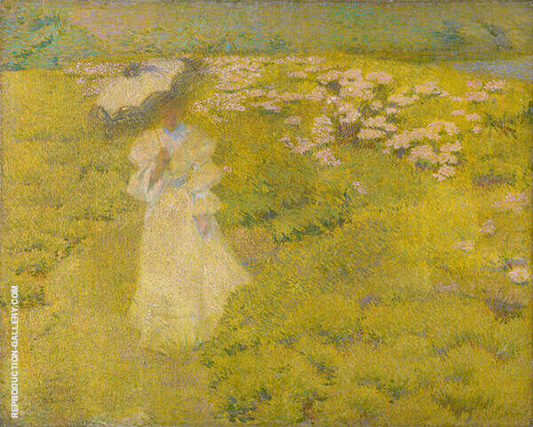 A Walk Through The Fields 1895 Painting By Philip Leslie Hale