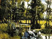 Landscape with Figures By Philip Leslie Hale