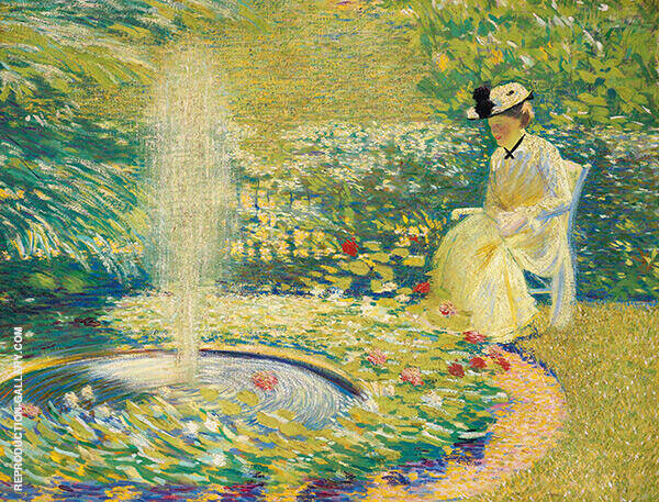 Mrs Hale in The Garden Painting By Philip Leslie Hale