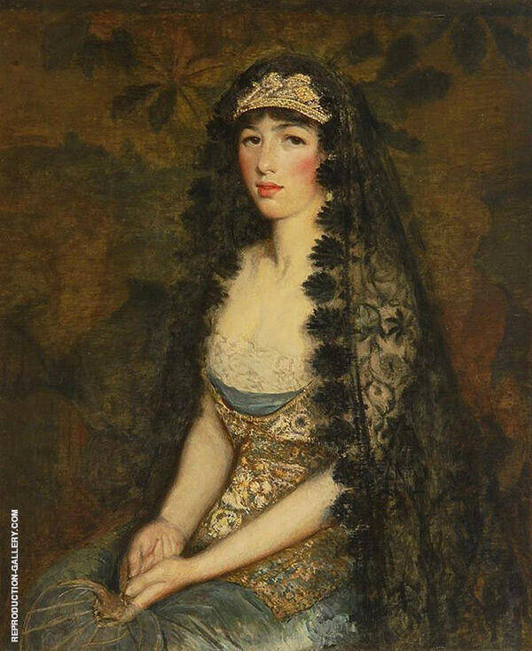 Portrait of A Lady by Philip Leslie Hale | Oil Painting Reproduction Replica On Canvas - Reproduction Gallery
