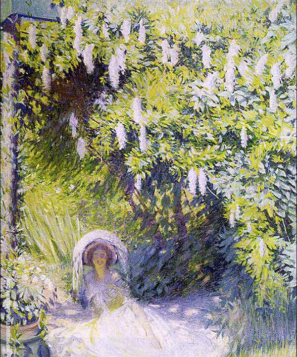 Wisteria Painting By Philip Leslie Hale - Reproduction Gallery