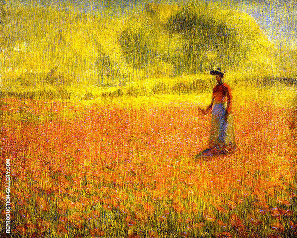 Poppies by Philip Leslie Hale   Oil Painting Reproduction Replica On Canvas - Reproduction Gallery