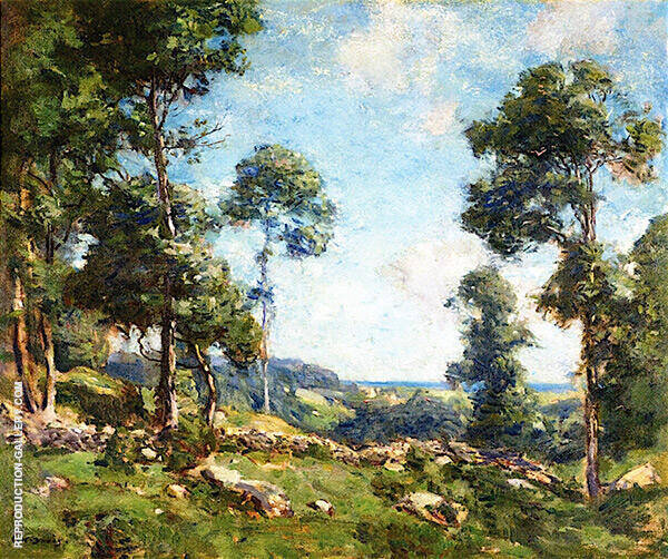 Forest Landscape Painting By Charles Harold Davis - Reproduction Gallery