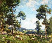 Forest Landscape By Charles Harold Davis