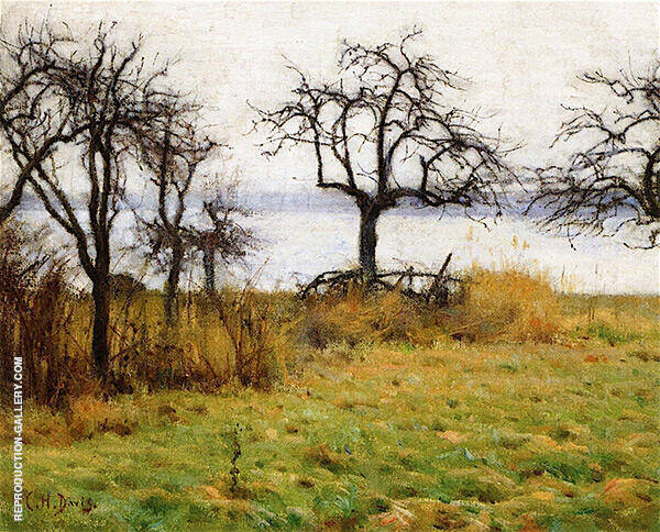 Grey Day Early Winter Painting By Charles Harold Davis