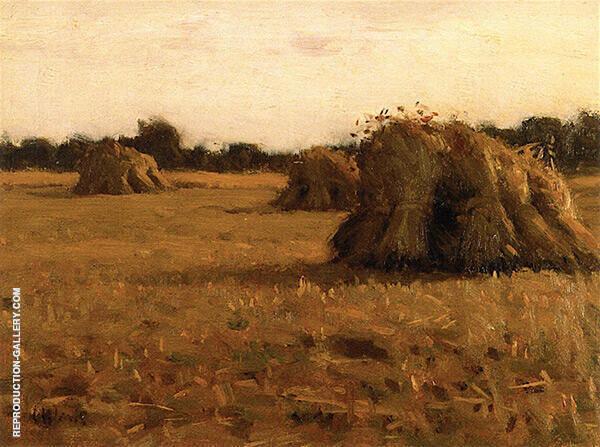 Haystacks France Painting By Charles Harold Davis - Reproduction Gallery