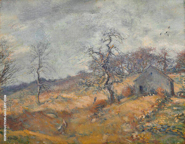 Landscape with Farmhouse By Charles Harold Davis