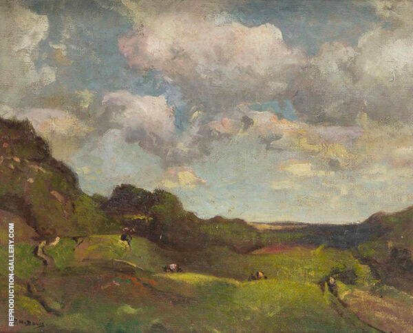 Landscape with Grazing Animals Painting By Charles Harold Davis