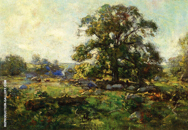 Oak Tree in Mystic Painting By Charles Harold Davis - Reproduction Gallery