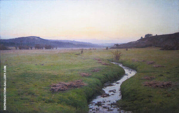 The Brook 1890 Painting By Charles Harold Davis - Reproduction Gallery
