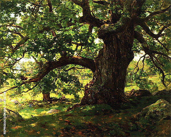 The Oak Painting By Charles Harold Davis - Reproduction Gallery