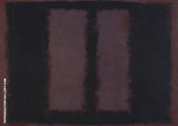 Black and Maroon 1958 By Mark Rothko