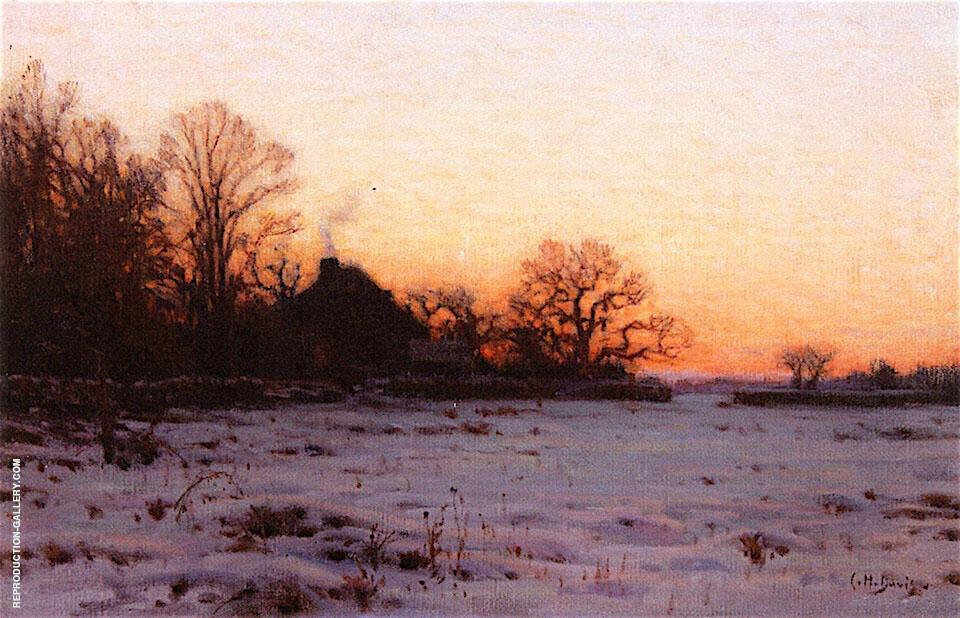 Twilight Mid Winter Painting By Charles Harold Davis