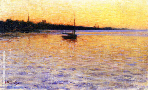 Twilight on The Water Painting By Charles Harold Davis