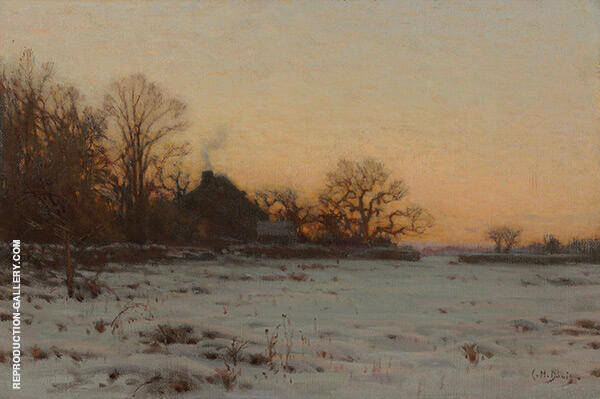 Winter Twilight Painting By Charles Harold Davis - Reproduction Gallery