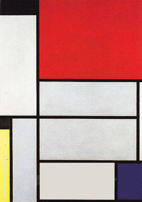 Composition with Black Red Gray Yellow and Blue 1921 Painting By ...