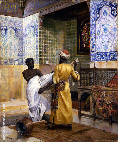 A Moor Robing After The Bath By Rudolf Ernst