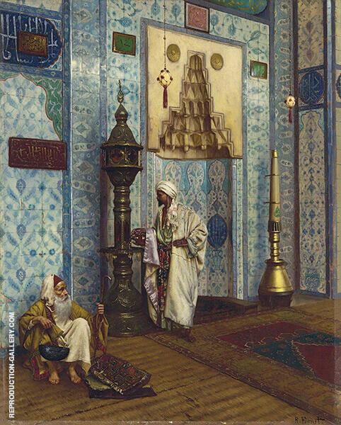 In The Mosque By Rudolf Ernst