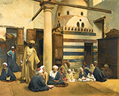 In The Madrasa c1900 By Ludwig Deutsch