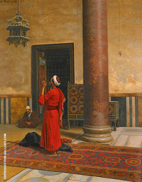 Morning Prayers 1902 Painting By Ludwig Deutsch - Reproduction Gallery