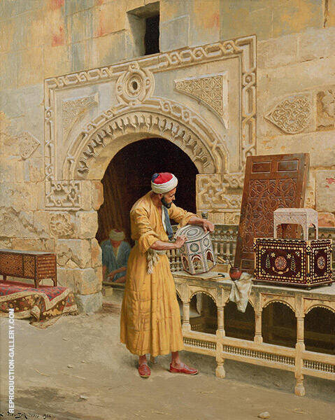 The Furniture Maker 1900 Painting By Ludwig Deutsch - Reproduction Gallery