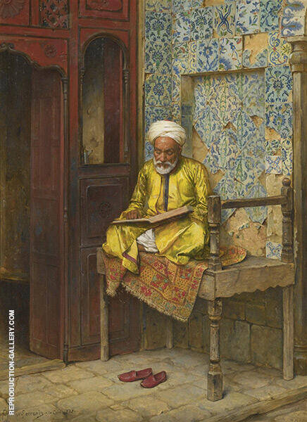 The Learned Man of Cairo Painting By Ludwig Deutsch - Reproduction Gallery