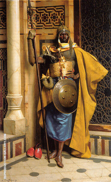 The Nubian Palace Guard Painting By Ludwig Deutsch - Reproduction Gallery